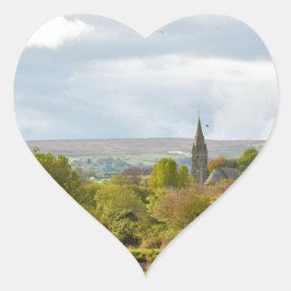 Whitby Church Heart Sticker