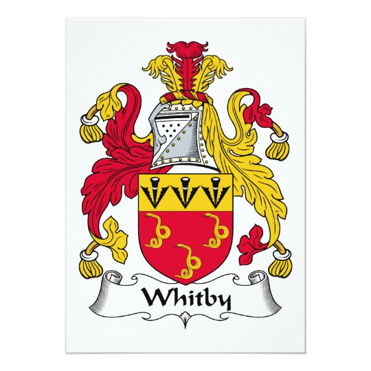Whitby Family Crest Card