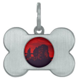 Whitby Goth Pet Name Tags