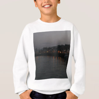 Whitby harbour at night sweatshirt
