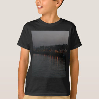 Whitby harbour at night T-Shirt