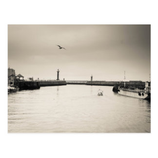 Whitby Harbour Postcard
