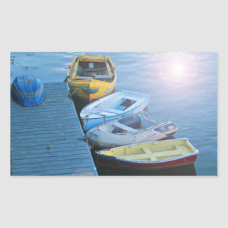 Whitby Harbour Rectangular Sticker