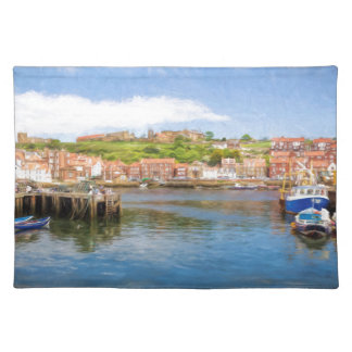Whitby Harbour Scenic view Placemat