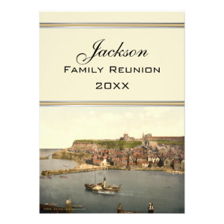 Whitby II Yorkshire England Family Reunion Invite