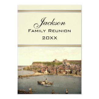 "Whitby II, Yorkshire, England Family Reunion 5"" X 7"" Invitation Card"