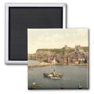 Whitby II, Yorkshire, England Square Magnet