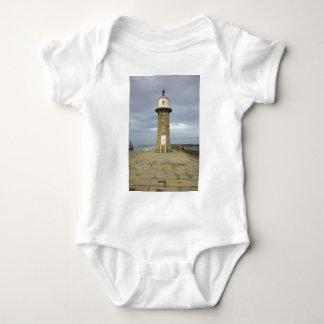 Whitby lighthouse baby bodysuit