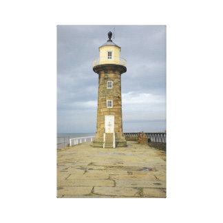 Whitby lighthouse canvas print