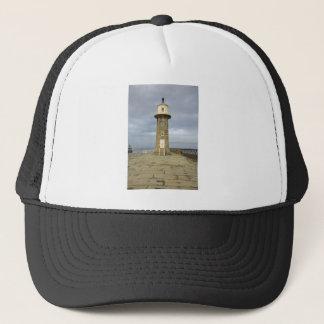 Whitby lighthouse trucker hat