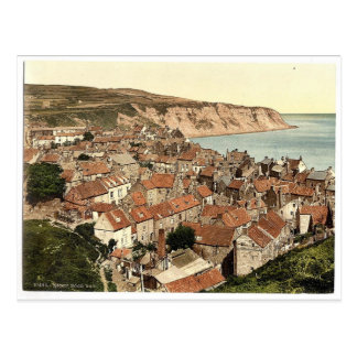 Whitby, Robin Hood's Bay, Yorkshire, England rare Postcard