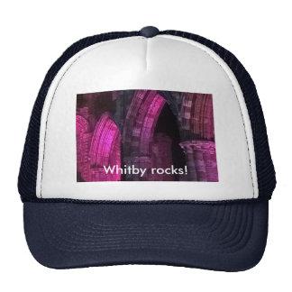 Whitby rocks! illuminated Gothic ruins Cap