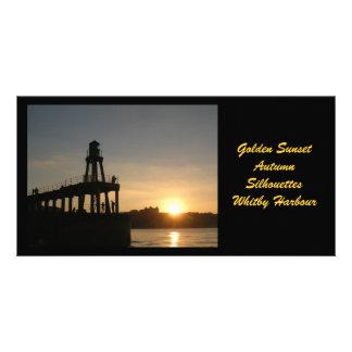 Whitby Sunset Photocard Card