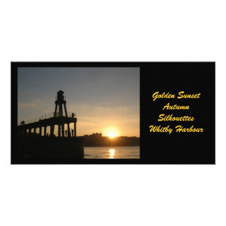 Whitby Sunset Photocard Picture Card