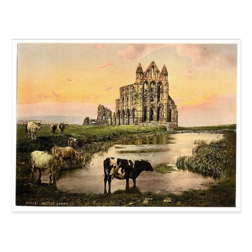 Whitby, the abbey, III., Yorkshire, England rare P Postcard