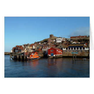 Whitby with old Lifeboat house Greeting Card