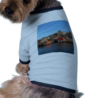Whitby with old Lifeboat house Doggie T-shirt