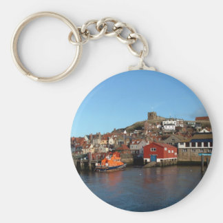 Whitby with old Lifeboat house Key Ring