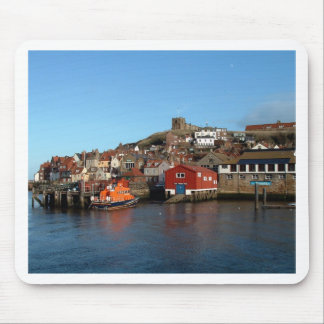 Whitby with old Lifeboat house Mouse Mat