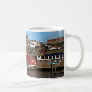 Whitby with old Lifeboat house Basic White Mug
