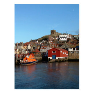 Whitby with old Lifeboat house Postcard