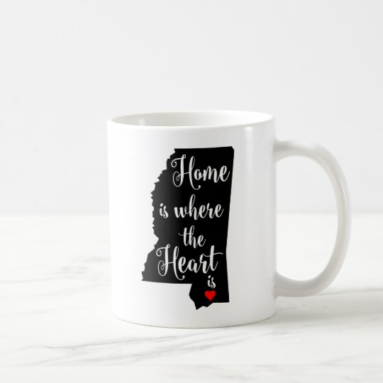 White 11 oz Classic Mug Home is where the Heart is
