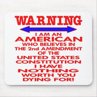 White 2nd Amendment American Mouse Mat