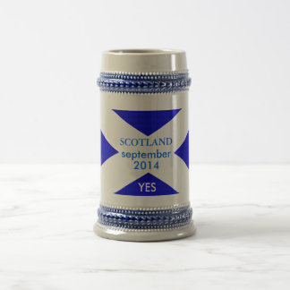 White 325 ml Classic yes by highsaltire Beer Stein