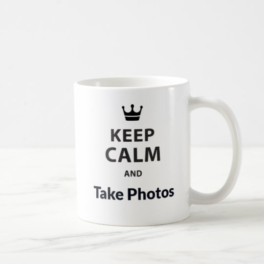 White 325 ml Keep calm and Take Photos