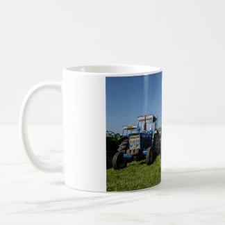 White 325ml Classic White Mug with Steam Tractors