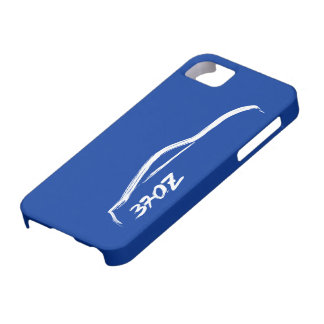 White 370Z Logo with blue background. iPhone 5 Cases