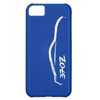 White 370Z Logo with blue background. iPhone 5C Case