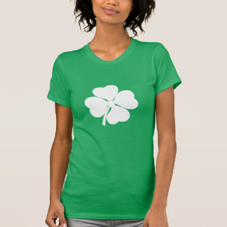 White 4 Leaf Shamrock T-Shirt