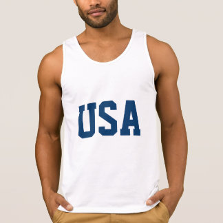 White 4th of July tank top t shirt | USA apparel