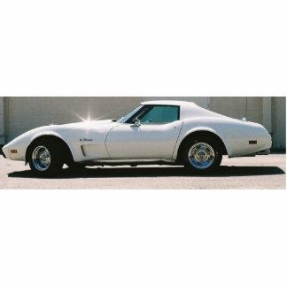 White 75 Corvette Cutout Magnet Cut Out