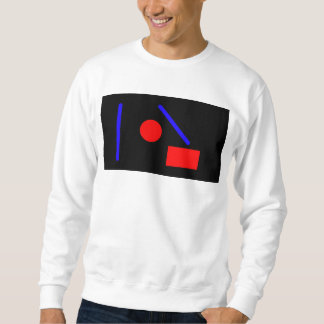 White Abstract Geometric Sweater