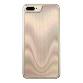White abstract wave design carved iPhone 8 plus/7 plus case