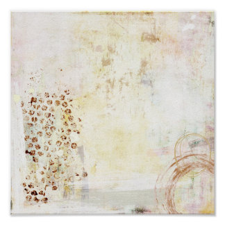 White Abstraction Poster