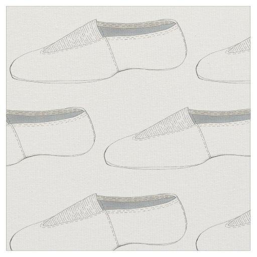 White Acro Acrobatics Gymnastics Shoe Dance Fabric