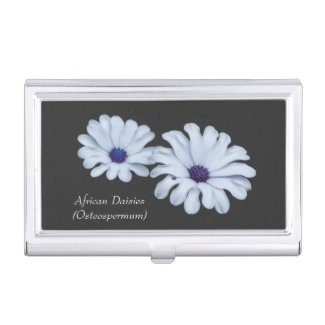 White African Daisies Business Card Holder