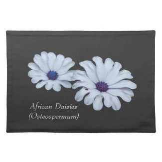 White African Daisies Cloth Placemats