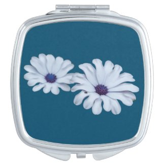 White African Daisies Compact Mirror