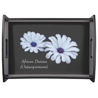 White African Daisies Serving Tray