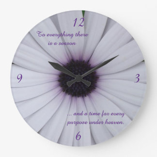 White African Daisy Clock