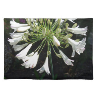 White Agapanthus Placemat