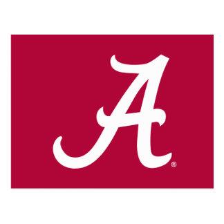 "White Alabama ""A"" Postcard"