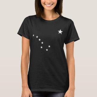White Alaska Flag Stars T-Shirt