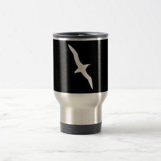 White Albatross Bird In Flight Travel Mug