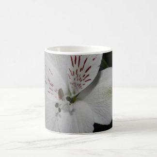 White Alstroemeria  Flower Mug