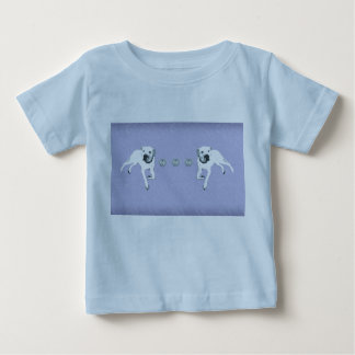 White American Pit Bull Terrier/silver hearts Baby T-Shirt